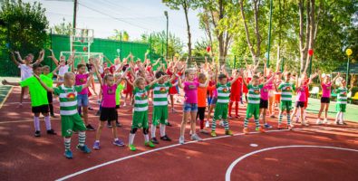 Открытие многофункциональной спортплощадки